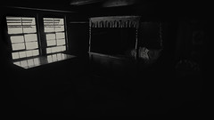 Inside a Schwarzwaldhaus (Linus Wärn) Tags: old blackandwhite bw window monochrome farmhouse germany blackwhite bed bedroom noir schwarzwald blackforest badenwürttemberg schwarzwaldhaus leicadlux5