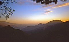 California Dreaming (Deepgreen2009) Tags: california trees sunset sky usa mountains peaks sequoianationalpark