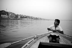 Rowing Boat on the River Ganges (ross_123) Tags: travel boy india river boat nikon indian paddle photograph varanasi rowing oar d200 nikkor vr ganges ghats rossmore 18200mm 2013