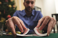 Shuffle the cards,please (Yiorgios Kyzas) Tags: christmas black canon jack cards mix hands 28mm poker 18 shuffle blackjack dealer 6d