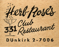 Herb Rose's (jericl cat) Tags: glass illustration bar club vintage paper restaurant design graphic champagne lounge martini ephemera cocktail matches bubbly dunkirk matchbook 331 27006