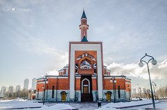 , Memorial Mosque (Syuqor7) Tags: winter sky white snow architecture photography daylight nikon europe day moscow muslim islam mosque mockba d7000 somethinggoldsomethingblue