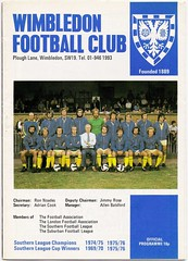 WIMBLEDON v TELFORD UNITED 1976-77 (Southern League) (bullfield) Tags: telford wimbledon telfordunited southernleague ploughlane