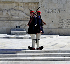 Defending civility, justice, and democracy, in front of Parliament (Peony71) Tags: athens evzones presidentialguard evzoni tsoliades presidentialmansion greektomboftheunknownsoldier ringexcellence dblringexcellence tplringexcellence eltringexcellence