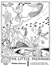 the little mermaid (Al Q) Tags: game john children little picture highlights puzzle hidden mermaid gee find