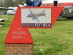 Old BEA poster (graham19492000) Tags: museum bea brooklands transportmuseum britisheuropeanairways brooklandsmuseum