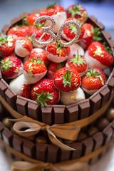 Anyone for Cake? (AlistairBeavis) Tags: birthday cake strawberry chocolate 30th kitkat goldleaf alistairbeavis alistairbeaviscom