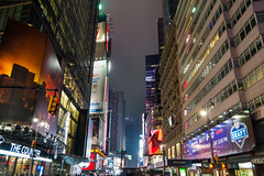 Broadway at 41st St (fate atc) Tags: city usa newyork fog night manhattan tallbuildings towardstimessquare w41ststandbroadway