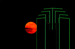 Moonrise Over Dallas (barrykooda) Tags: moon dallas downtown moonrise bankofamericabuilding