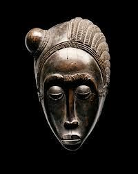 Masker uit de Ivoorkust. Baule regio. Hout, 25x15x13 cm. Privecollectie