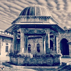 .  ...      The omayyad mosque | Aleppo - Syria Totally destroyed  Copyright  2011, NourEddin Hasan Photographer All rights reserved. (   NourEddin Hasan) Tags: square nashville squareformat iphoneography instagramapp uploaded:by=instagram