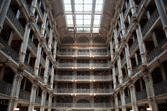 Peabody Library (sushiigirl) Tags: md library books baltimore institute peabody