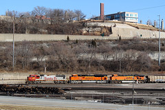 DPU's at Kansas City, MO (nsmith8853- I'm tired of shootings GE's!) Tags: santa city railroad train railway trains mo missouri kansas kc fe railfan bnsf kcmo kct emd atsf sd75m