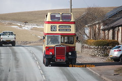 Unsuitable occasion for use of an open-top bus (2) (SelmerOrSelnec) Tags: bus rally preserved southport leyland mcw opentop weymann kirkbystephen pd2 runningday merseysidepte cwm151c