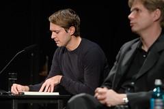Daniel Hoevels, Daniel Kehlmann (boellstiftung) Tags: danielhoevels danielkehlmann deutschisraelischeliteraturtage2016 berlin dil dt deutschestheater hbs