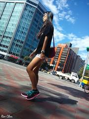 meet by chance () Tags: 2016             taiwan taipei portrait girl female cellphone street amateur