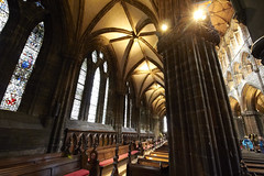 Inside Glasgow cathedral (36) (dddoc1965) Tags: dddoc davidcameronpaisleyphotographer glasgow cathedral necropolis landmark scotland october 7th 2016 cloudy precinct autumn yellow trees windows ceiling stone arcitech flags kenny game thrones
