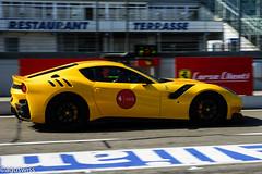 Ferrari F12 TdF (aguswiss1) Tags: ferrarif12tdf ferrari f12 tdf tourdefrance supercar hypercar fastcar sportscar racecar cruiser racer yellowcar limitededition limited edition millionaire 300kmh 200mph hhr hockenheimring germany