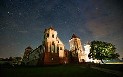 Mir Castle (free3yourmind) Tags: mir castle   night nightsky stars belarus tree fairy tale
