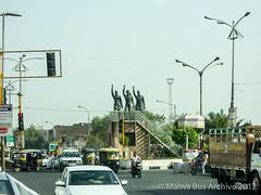 Ludhiana (Punjab) (Malwa Bus Archive) Tags: india punjab travel 2012 malwabusarchive ludhiana statue freedomfighters bhagatsingh rajguru sukhdev