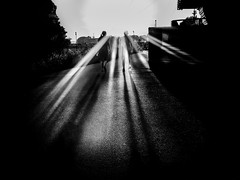 into the light (frank_hb) Tags: black white bw sun contrast light shadow dark street streetphotography human schwarz weis sonne kontrast licht schatten dunkel strase weg mensch elbe hamburg wedel summer sommer blackandwhite