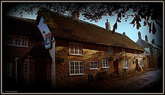 """"""" Within Staggering Distance! """" (""""PatH Images"""") Tags: pub england dorset stone thatch cobbels history drink friendship poetry village war"""
