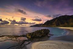 Makua Bay Sunset (MICHAEL A SANTOS) Tags: sonya7ii sonyalpha waves whitewash sony sony1635f4 paradise aloha seascapes slowshutter longexposure ocean sea beach shoreline seashore saintsphotography michaelasantos compositephotography