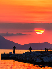 Probably one of the best sunsets I've ever seen (Sivota Harbour - Greece) (Canon EOS 7D & EF-S 55-250mm Telephoto Zoom) (1 of 1) (markdbaynham) Tags: sunset cloud sky colour sivota greece greek hellas hellenic grecia greka gr harbour view landscape canon canonite canonites eos 7d dslr apsc efs 55250mm telephoto
