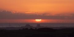 Northern powerhouse (RF100) Tags: 2016 atomic britain energy heysham heysham2 morecambebay nuclear nuclearpowerstation renewable sunset sunsets uk unitedkingdom windfarm windfarms windturbine windturbines