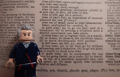 2016-290 - National Dictionary Day (Steve Schar) Tags: 2016 wisconsin sunprairie nikon nikonaw120 project365 project366 lego minifigure doctorwho dictionary webster webstersdictionary time nationaldictionaryday timelord definition unusual flickrfriday