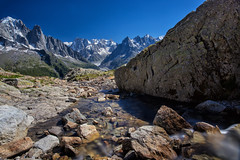 Mountain Spring (TeeJay_S) Tags: chamonix lacblanc france alps alpes europe europa longexposure mountains glacial water stream peaks rhone rhonealps adventure beautiful canon ngc explore nature landscape outdoors outside