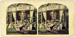 Obrador de costureras. 1859  1866 Fotografas estereoscpicas (papel albuminado y acuarela).Museo del Romanticismo (Museo del Romanticismo) Tags: sigloxix museodelromanticismo la moda romntica indumentaria