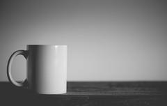 i've got nothin' - 293/366 (auntneecey) Tags: igotnothin simple minimal monochrome mono 366the2016edition 3662016 day293366 19oct16 whitecup tea coffee drink