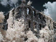 unfinisched palace in infrared