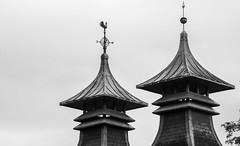 Kilns of Strathisla Distillery, Scotland (vonHabsburg) Tags: monochrome schwarzweiss bw einfarbig architecture architektur building gebude kiln distilery whisky brennerei pagode strathisla keith roof dach