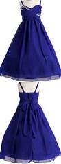 Flower girl dress (provencelavender) Tags: ball gown straps tealength chiffon royal blue beaded flower girl dress