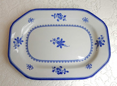 Spode Serving Platter ~ New Stone ~ Gloucester Y2989 (Donna's Collectables) Tags: spode serving platter gloucester y2989 thanksgiving christmas