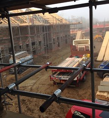 New build site. (A.S.Colbert Plumbing + Heating) Tags: plumbing heating plumber work new building construction mud scaffolding cambridge peterborough huntingdon ely stneots stives house home build
