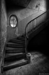 Dark Stairs [Run or  Hide] (endsilence) Tags: stairs staircase decay lost silence dust light curve wallpaper scary