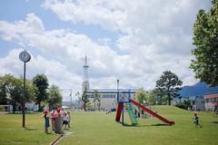 Playing (Gai) Tags:    furano hokkaido japan   summer      blue sky  cloud  park  child children    kindergarten