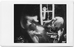 Orbuculum prediction (art y fotos) Tags: glassball pigs dolls clothespins ladders toys artistsmodel hands homebound honolulu oahu hawaii lomography dianainstantback diana instant back debonair fppdebonair toycameras plasticfilmtastic120 filmtasticplasticinstax filmphotographypodcast filmphotographyproject fpp homemade handmade pinhole bambole bamboo bamboopinholecamera lebambolemkx pinstanair fujifilm instax mini monochrome instantfilm integral film