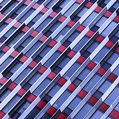 Facade, Boulogne (9923) (cfalguiere) Tags: boulogne trapeze facade zola lefaucheux sel20161203 datepub2016q412 motif geometrique geometric pattern architecture batiment centrecommercial lignes lines diagonal diagonale abstract abstrait