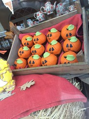 Spooky Pumpkins (Munki Munki) Tags: halloween spooky woodenbox marzipan pumpkins sweet windowdisplay