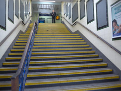 Surbiton station (moley75) Tags: 1937 artdeco balustrade building jamesrobbscott london modernism railwaystation southbank southernrailway stairs steps surbiton surrey andy