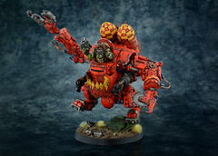 Evil Sunz Deff Dread (ComradeQuiche) Tags: warhammer 40k space marines orks waaagh deff dread dreadnought painting forgeworld evil sunz killa kan rokkit power klaw