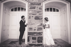 doorway (KieraJo) Tags: wide angle canonef24mmf14liiusm l lens canon 5d mark 3 iii 5d3 fullframe dslr bride groom couple love cuddle flower crown floral florals pretty beautiful castle stone door frame background dark glasses wedding formals bridals formal black white b w shot