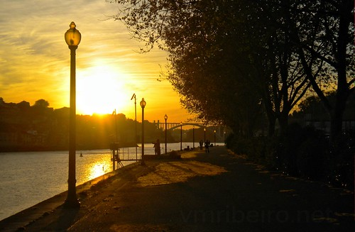 Sunset in Douro river...