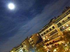 Moon is...full over Athens! (sifis) Tags: moon full athens greece canon night sakalak blue sky