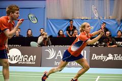 NBLmatch-5100-0408 (University of Derby) Tags: 5100 badminton nbl sportscentre universityofderby match