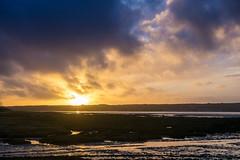 Today I ain't in a rush (OR_U) Tags: 2016 oru uk wales anglesea redwharfbeach sunset sky clouds beach coast wetfeet landscape